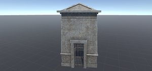 3D model crypt location cemetery