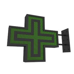 3D model pharmacy sign