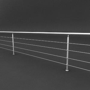 steel railing 3D