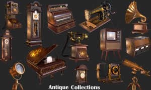 old antique collections 3D