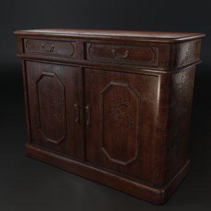 wooden bureau 3D