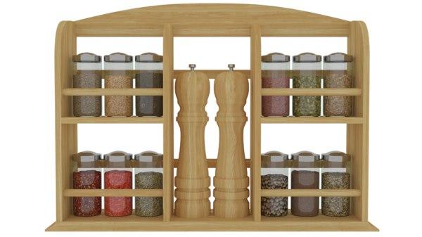 3D spice rack