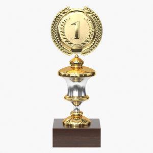 3D model realistic trophy cup 11