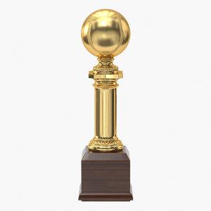3D realistic trophy cup 12