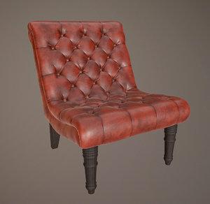 3D armless chair