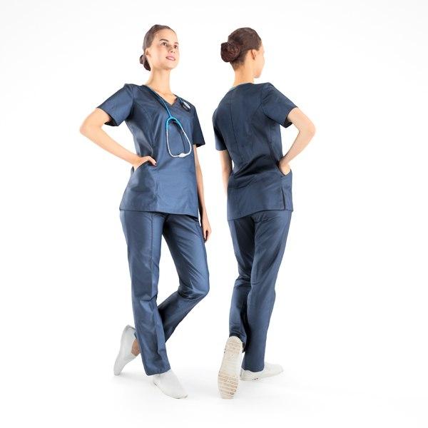 scanned nurse 3D model