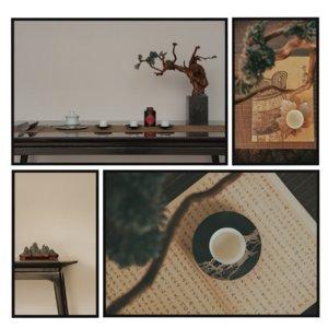 painting tea ceremony model