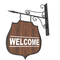 welcome sign 3D model