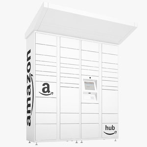 amazon delivery lockers 3D model