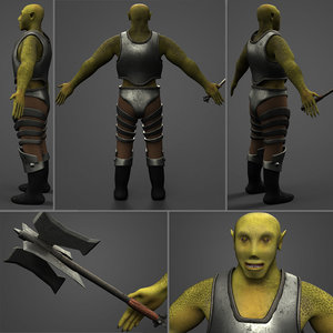 armored orc 3D model