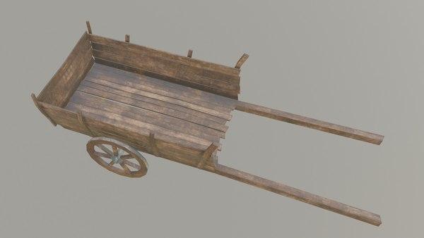 medieval cart pbr 3D model