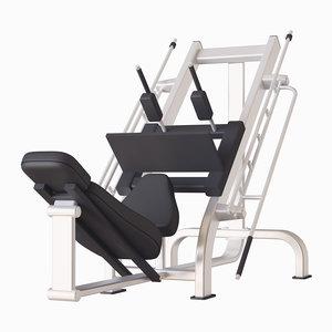 machine gym press 3D