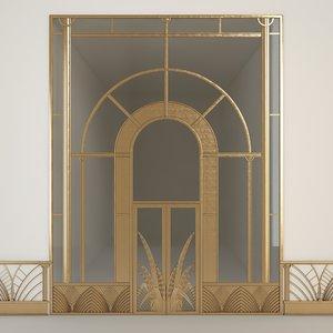 3D doors architectural model