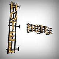 bulb sign hotel 3D model