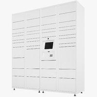 3D model delivery lockers lock