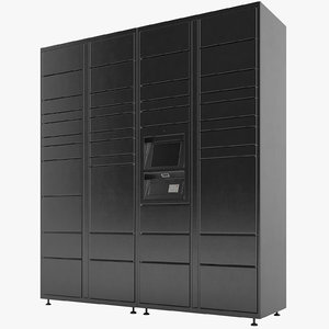 3D delivery lockers lock model