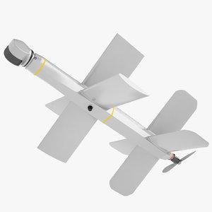 kamikaze drone lantset 3D model