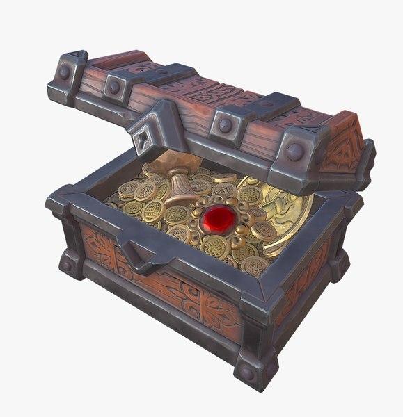 treasure chest - ready 3D model
