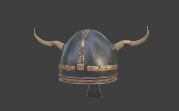 viking helmet pbr model