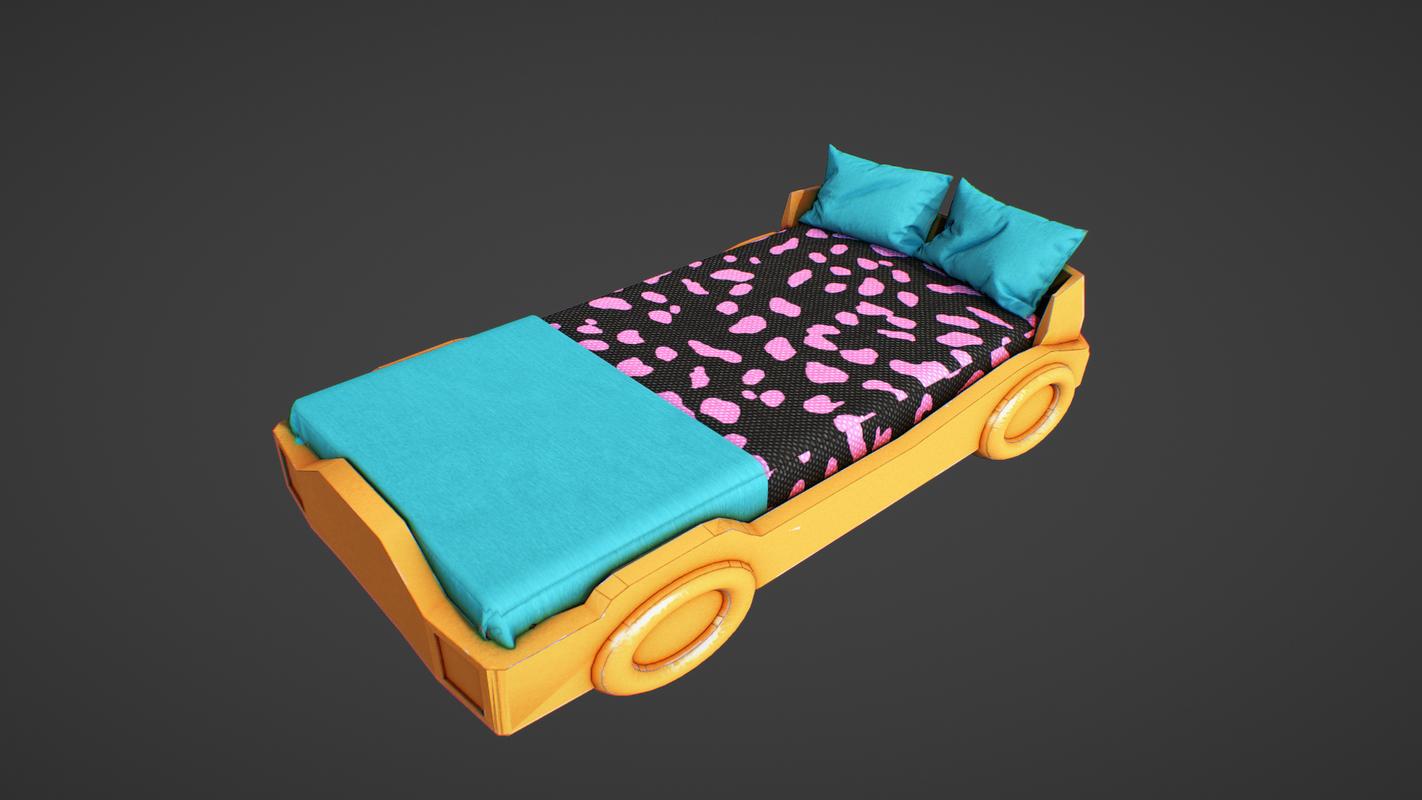car bed children 3D