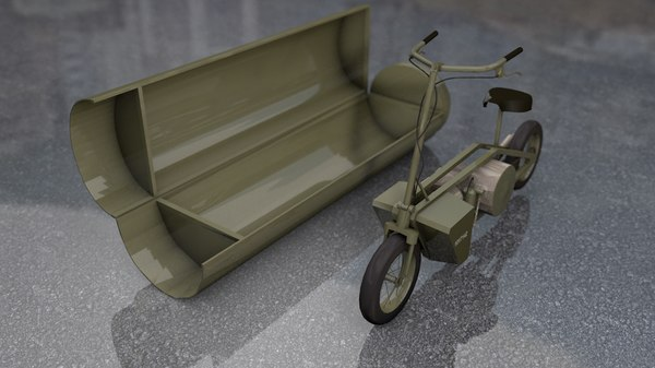 3D military army motorcycle th1