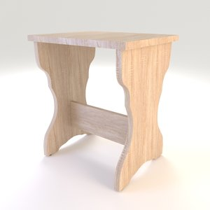3D model furniture chair stool