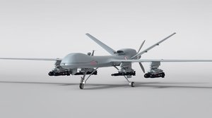 drone military aircraft 3D