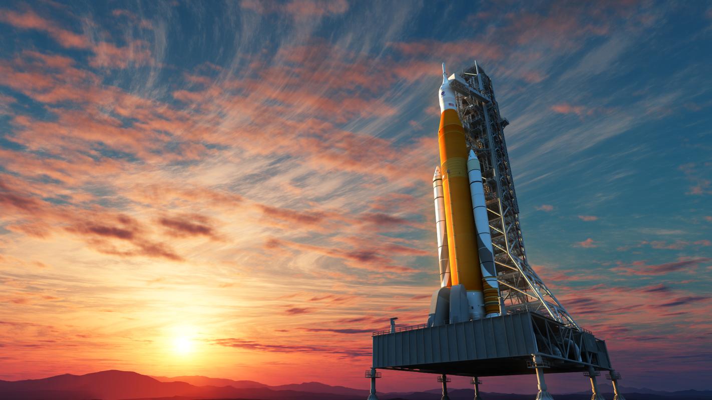 3D model space launch pad