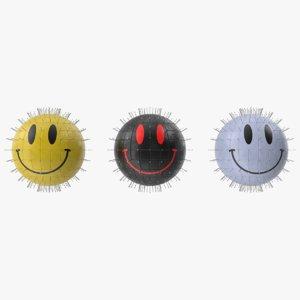 pinsmile smile pinhead 3D