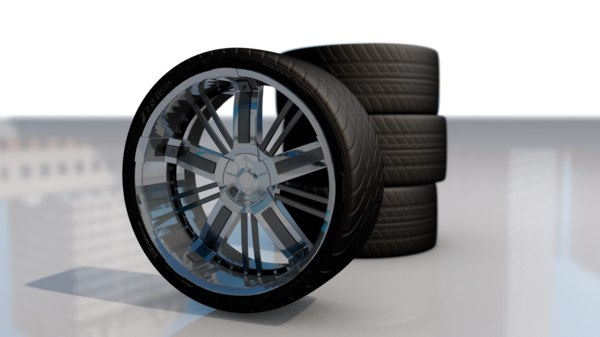 sport car whel tire 3D model