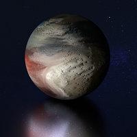 3D pluto dwarf planet