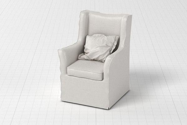 armchair modelled 3D model