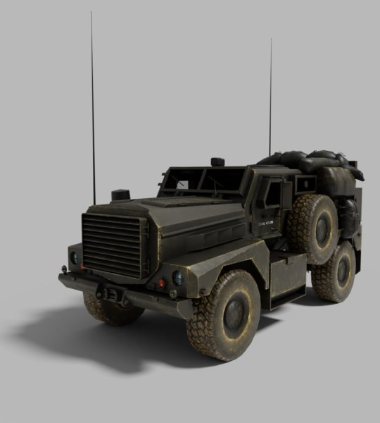 truck army 3D model