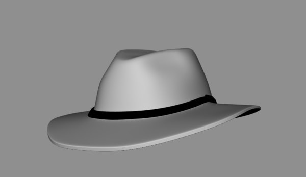 3D fedora hat mafia