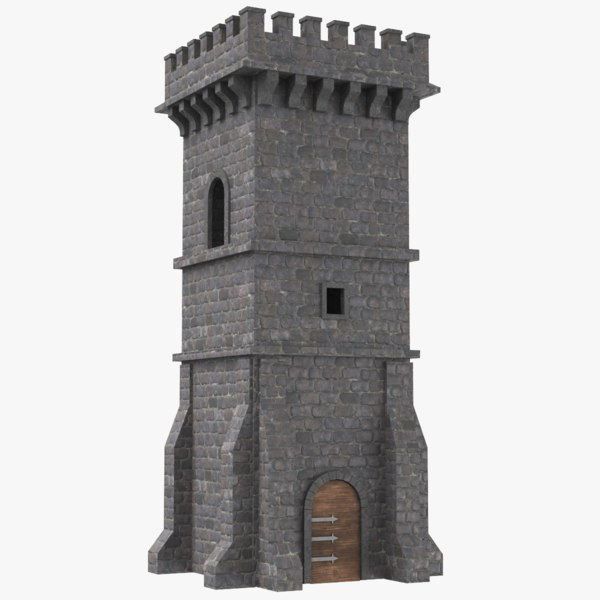 3D real castle tower model