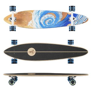 3D longboard termit pin tail model