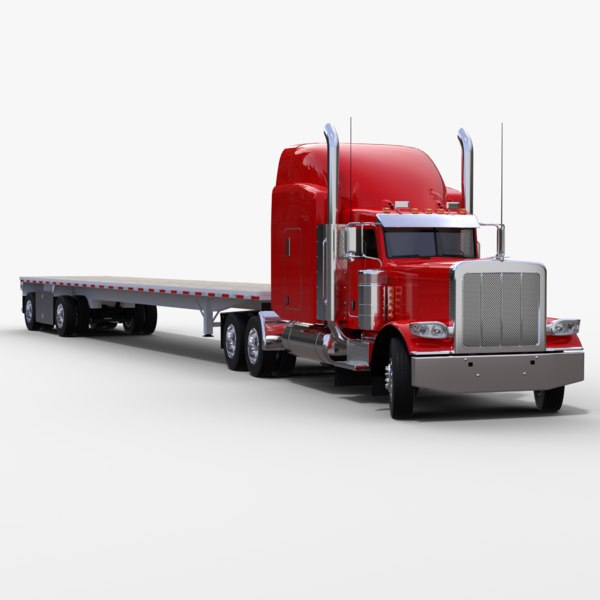3D flatbed truck v3