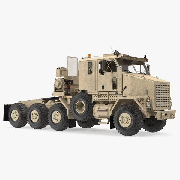 oshkosh m1070 truck tractor 3D model