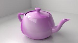 gradient teapot 3D