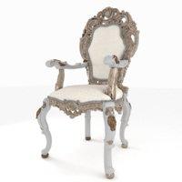3D model chair capotavola wood