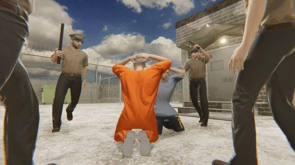 3D big - prison building model