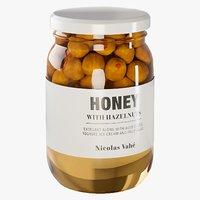 3D realistic hazelnuts honey model