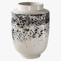 3D realistic miriam speckled vase