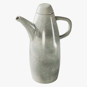 3D realistic jug rustic