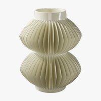 3D realistic vase celia white