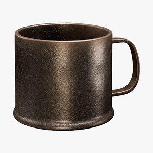 3D realistic mug brava bronze model