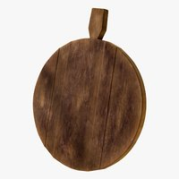 3D realistic cutting board wood