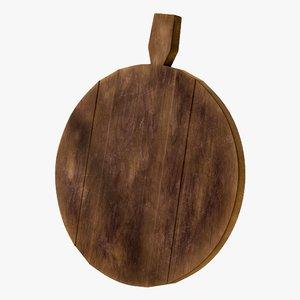 3D realistic cutting board wood