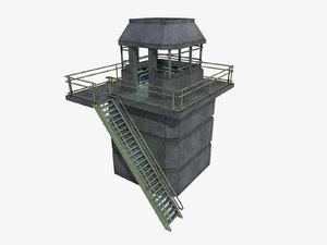 watchtower watch tower 3D model