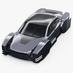 3D future hover car model